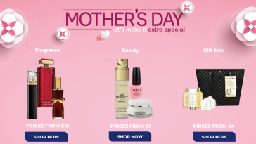 The Original Factory Shop Mother's Day Gifts Offers from 1 March 2021