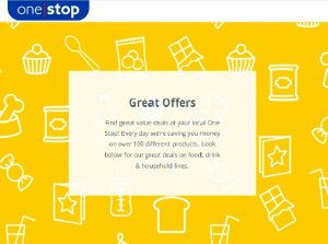 One Stop Offers 20th May - 12th June 2020