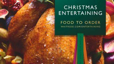 Waitrose Christmas Food To Order 12th November - 31st December 2020