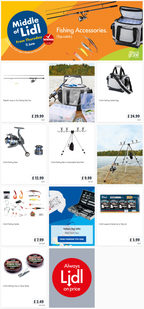 Lidl Fishing Accessories Offers from Thursday 11th June 2020
