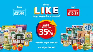 ALDI Tesco Trolley Comparison Press! Swap & Save 35% 22nd January 2021