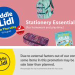 LIDL Stationery Essentials Offers From Thursday 19th August 2021