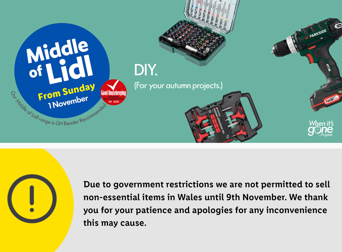 LIDL DIY Tools Offers From Thursday, 1st November 2020