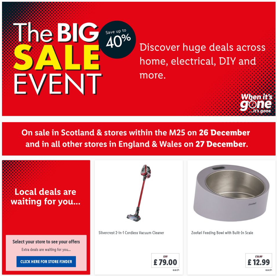 preview LIDL The Big Sale Event From 21.12.2020