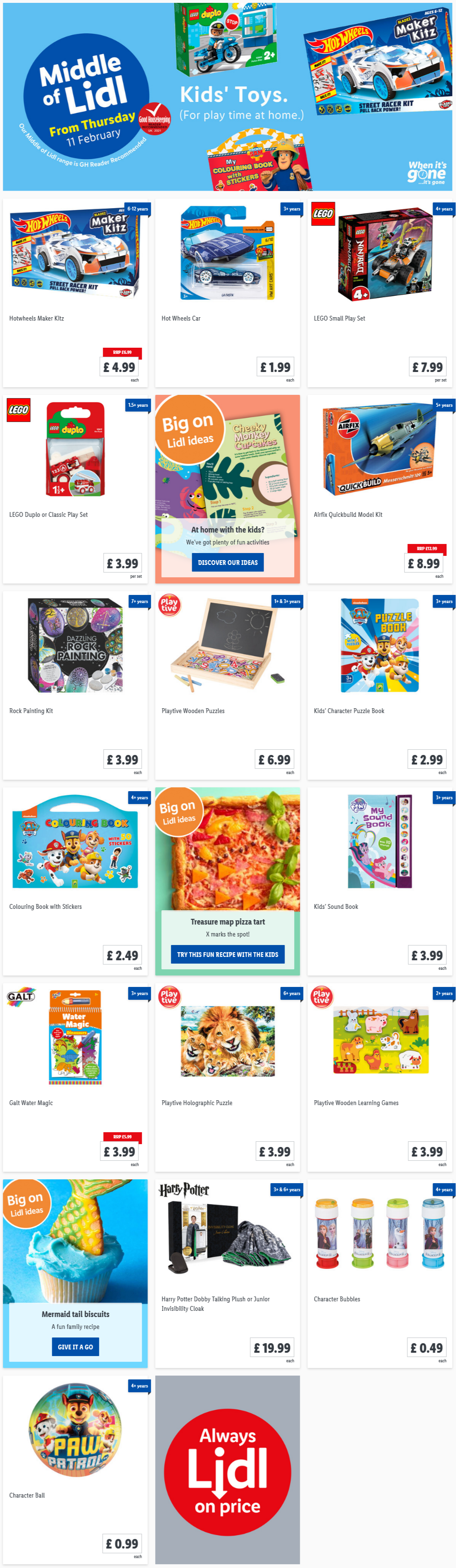 LIDL Kids Toys Offers From Thursday 11th February 2021