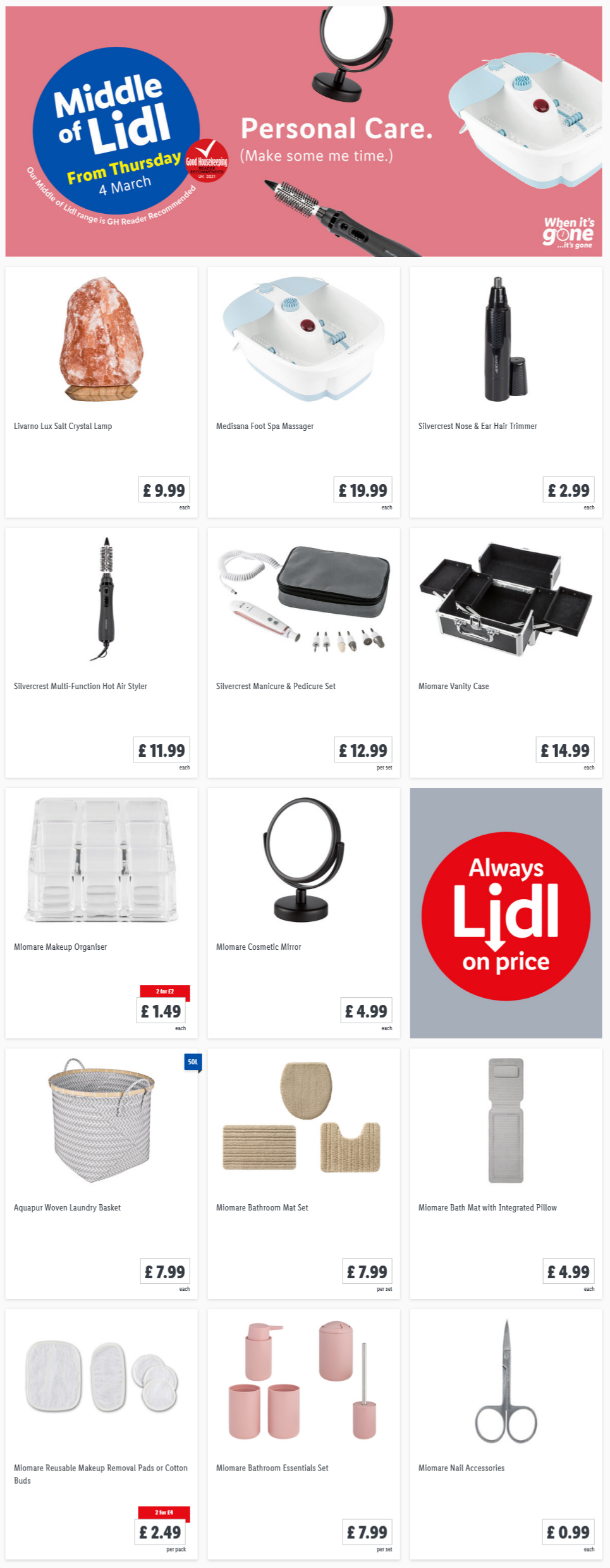LIDL Personal Care Offers From Thursday 4/3/2021