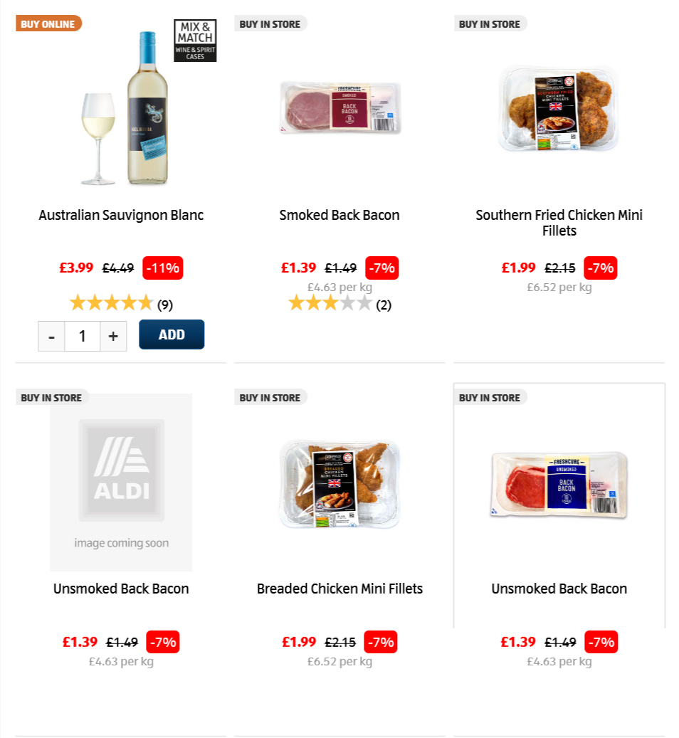 ALDI Price Drops from 26th January 2021