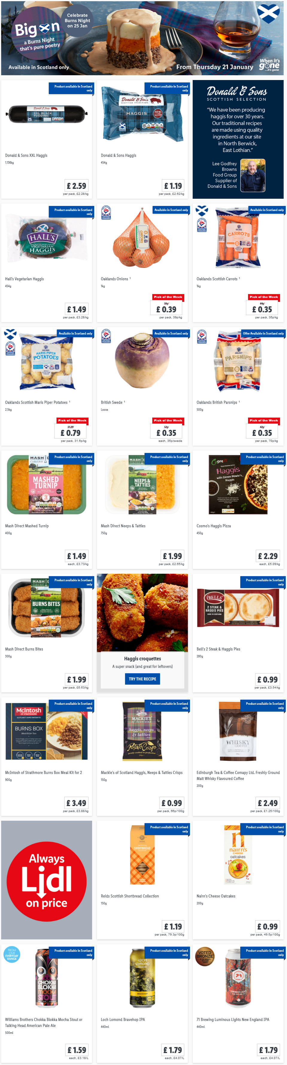 Lidl Burns Night Offers from Thursday, 21st January 2021 (Scotland Only)
