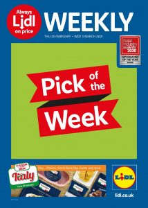 Lidl Weekly Offers 25th February - 3rd March 2021