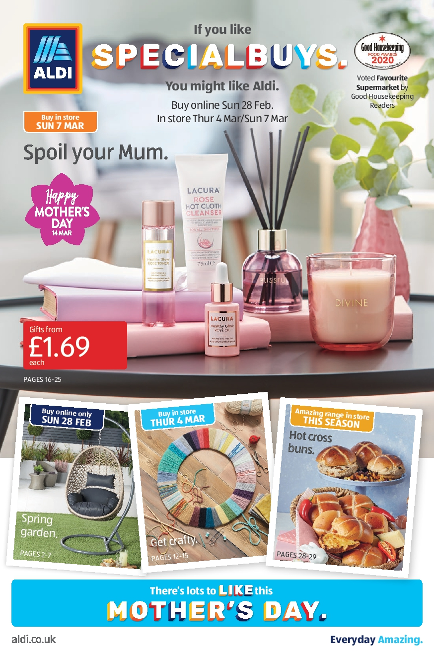 Aldi Leaflets Special Buys 28th February - 7th March 2021