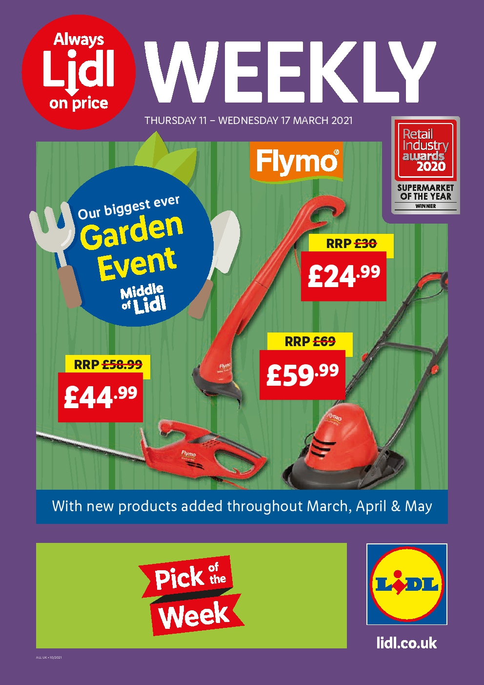 Lidl Weekly Offers 11th March - 17th March 2021