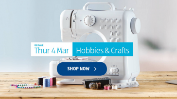 Aldi Special Buys Thursday, 4th March 2021 Hobbies & Craft