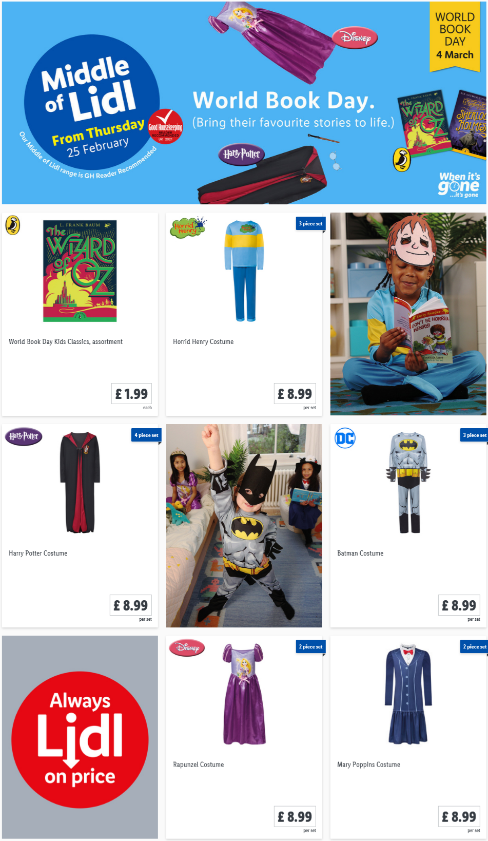 LIDL World Book Day Offers From Thursday 25th February 2021