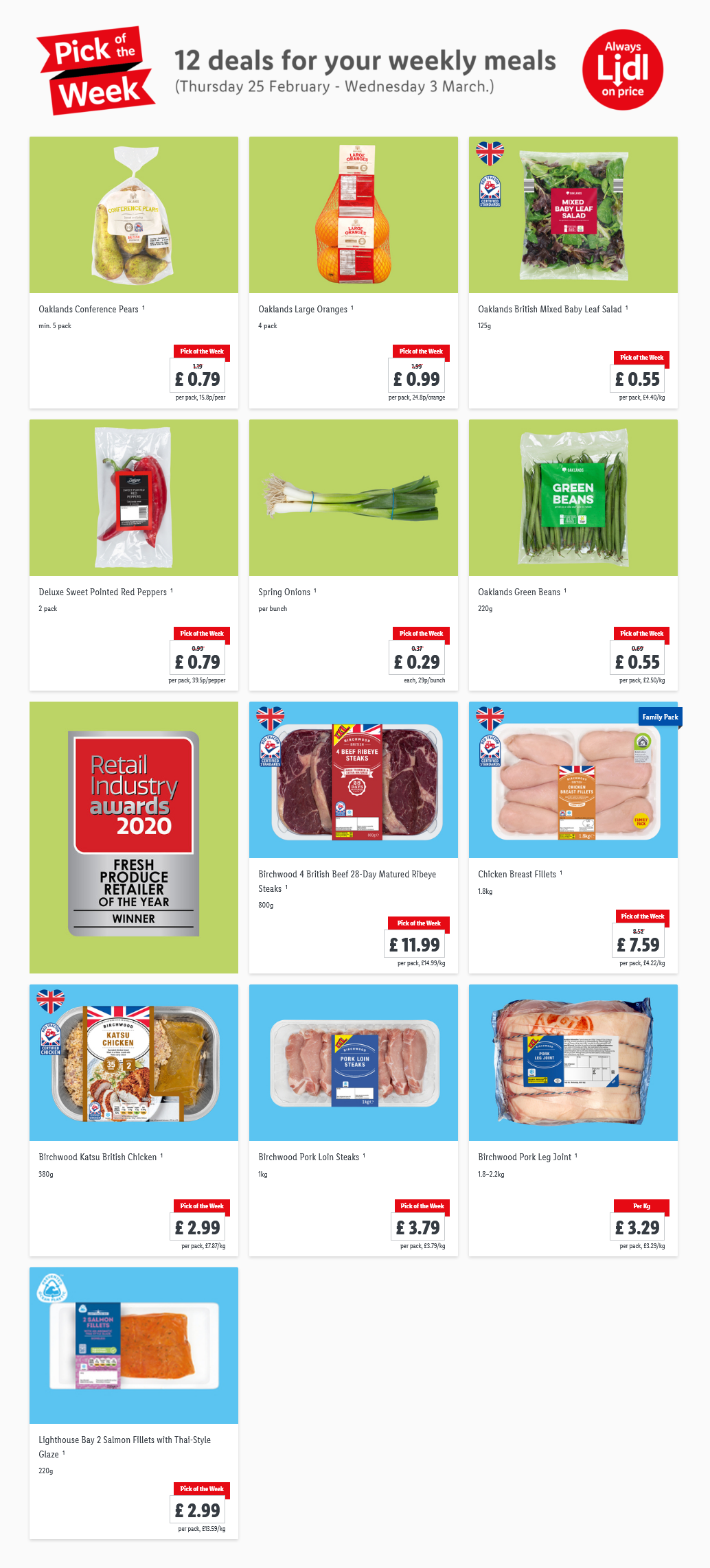 Lidl Pick Of The Week 25th February - 3rd March 2021