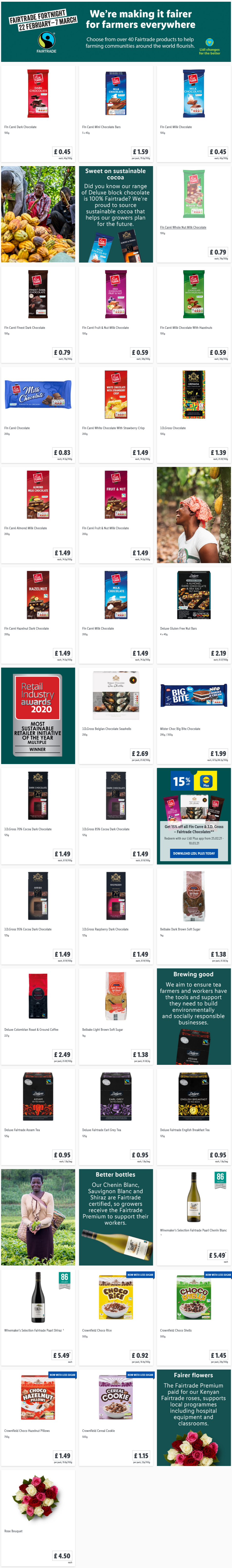 Shop Fairtrade Fortnight Offers at Lidl From Sunday, 31st January 2021