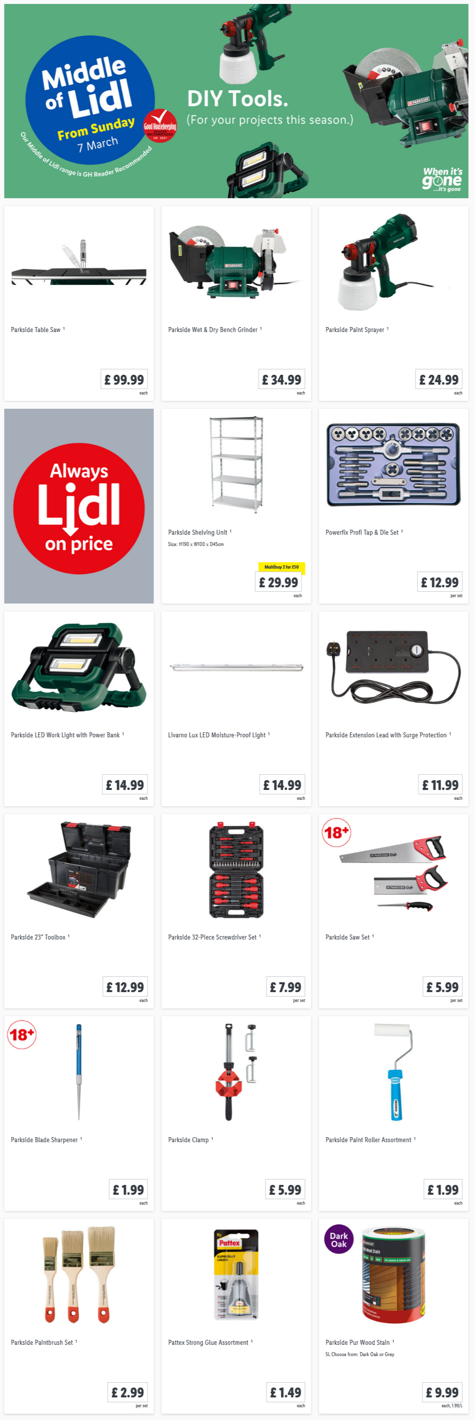 LIDL DIY Tools Offers From Sunday, 7th March 2021