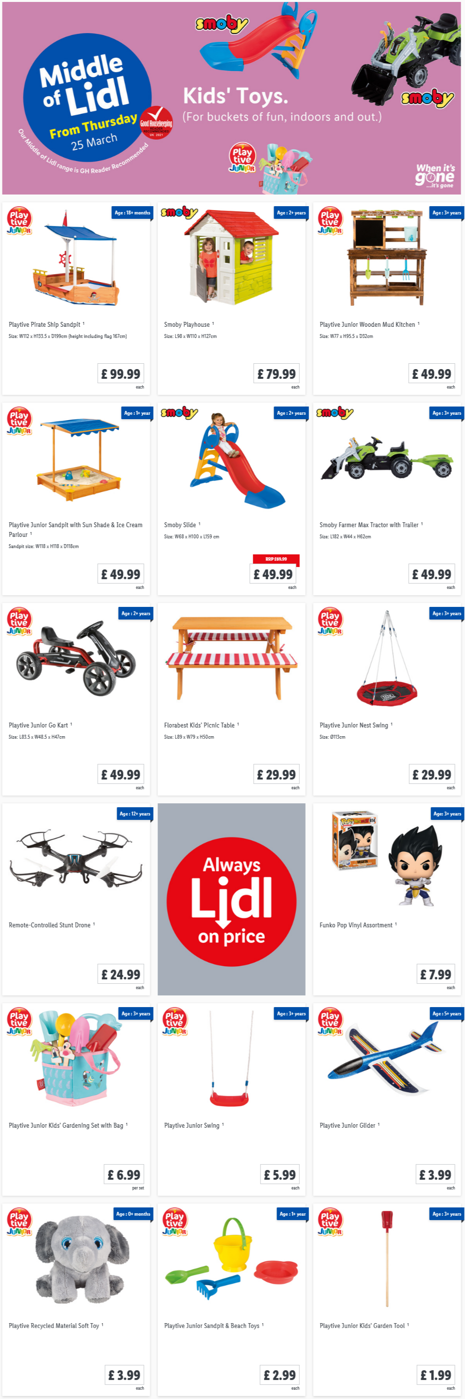LIDL Kids Toys Offers From Thursday 25th March 2021