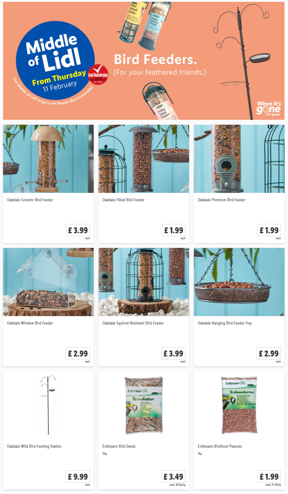 LIDL Bird Feeders Offers From Thursday 11th February 2021