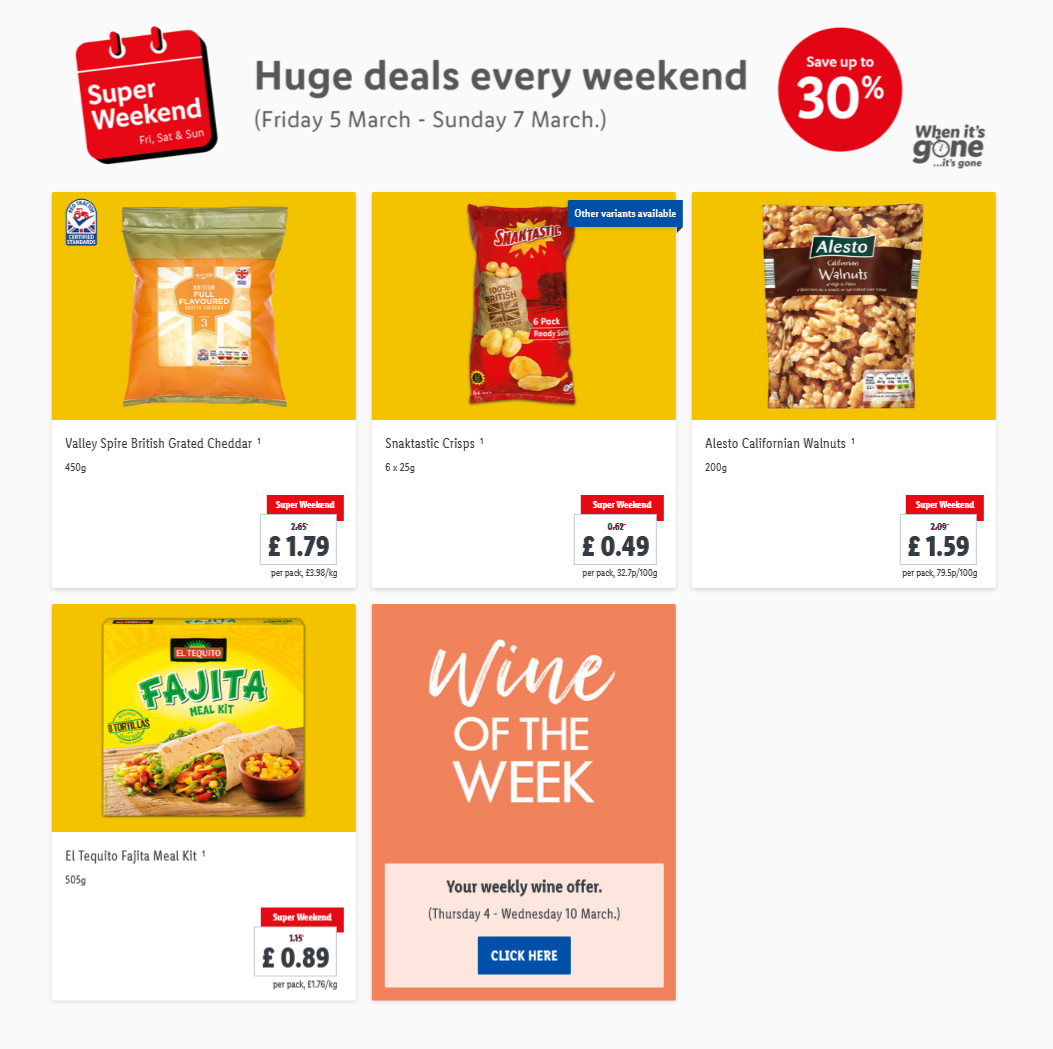 Lidl Super Weekend From 5th March 2021 LIDL Weekend Offers
