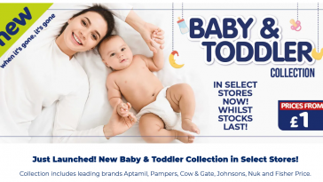 The Original Factory Shop Offers from 31st March 2021 Baby & Toddler Collection