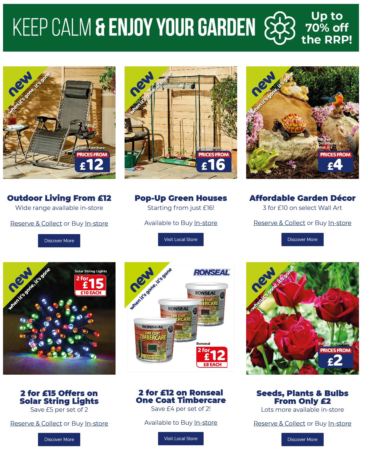 The Original Factory Shop Garden & DIY Offers from 31 March 2021