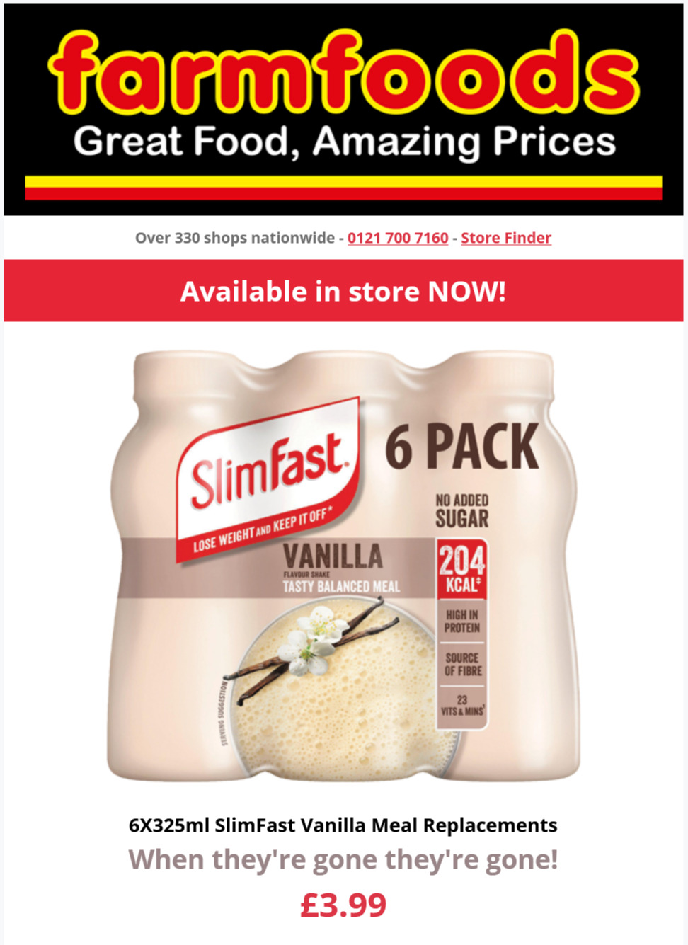 Farmfoods Offers Valid until at least 2nd August 2021 Farmfoods Voucher