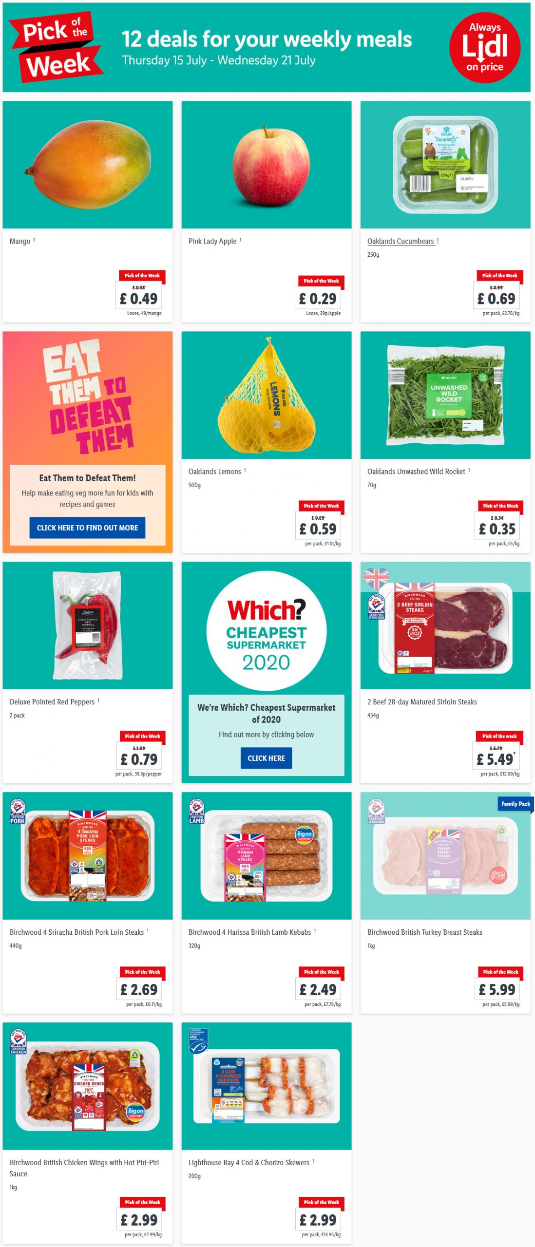 Lidl Pick Of The Week 15th July - 21st July 2021