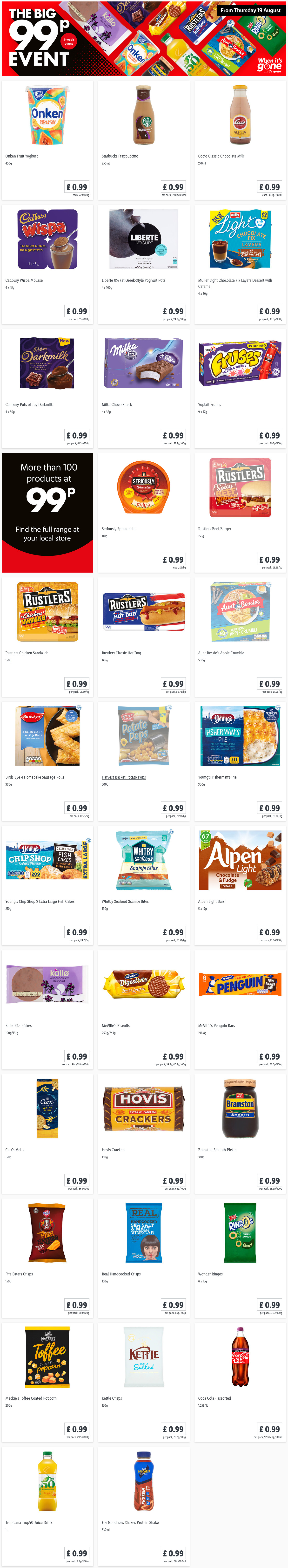 preview LIDL The Big 99p Event From 19/8/2021