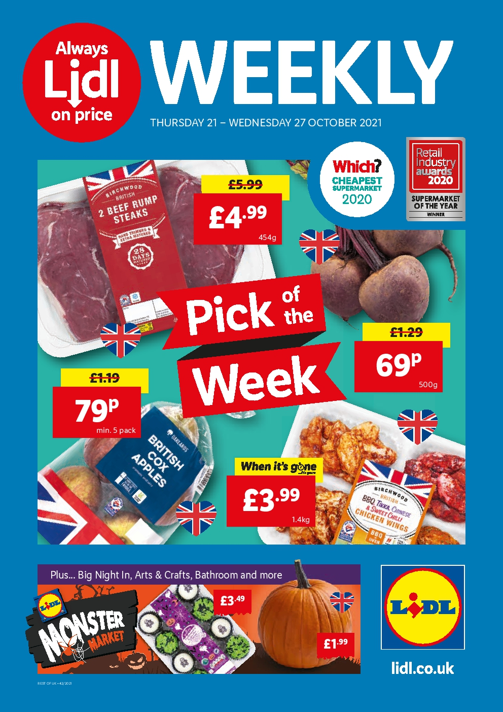 Lidl Weekly Offers 21st October - 27th October 2021
