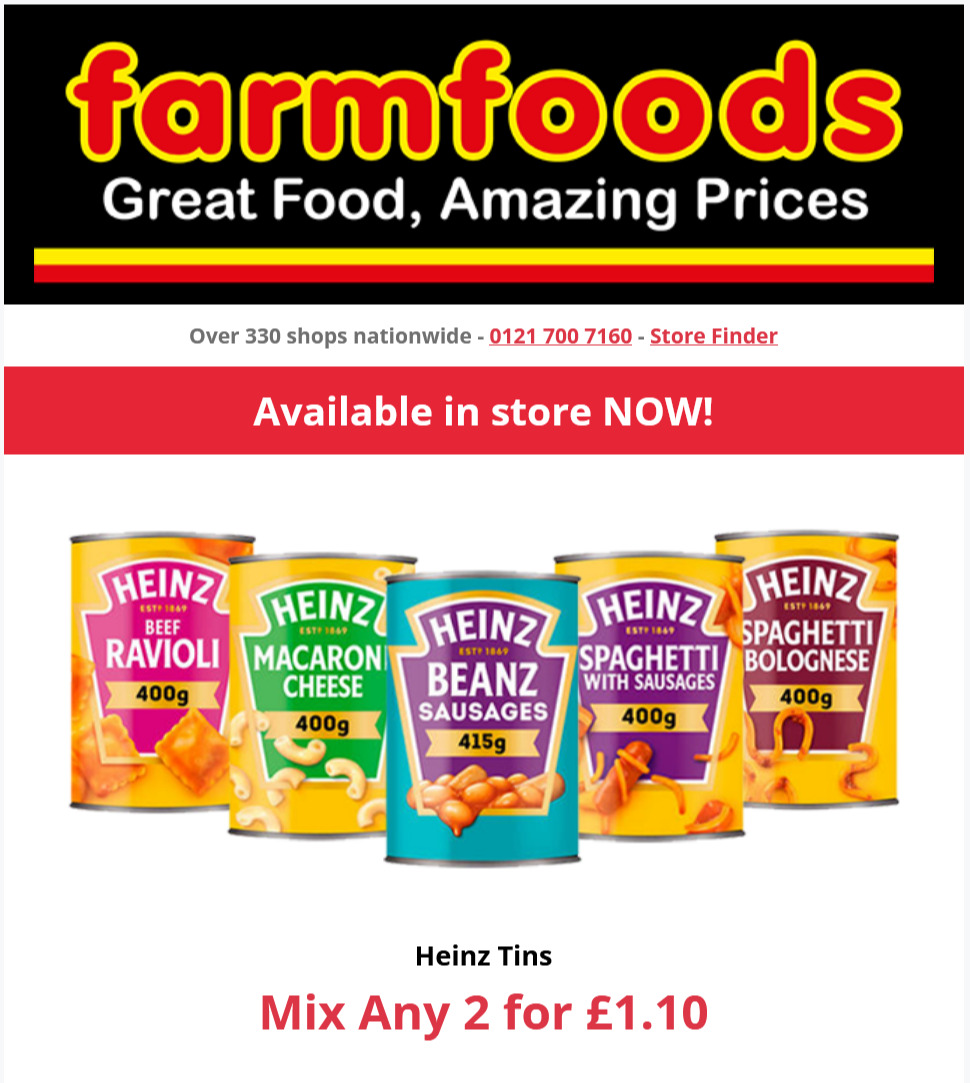 Farmfoods Offers Valid until at least 25th October 2021 Farmfoods Voucher